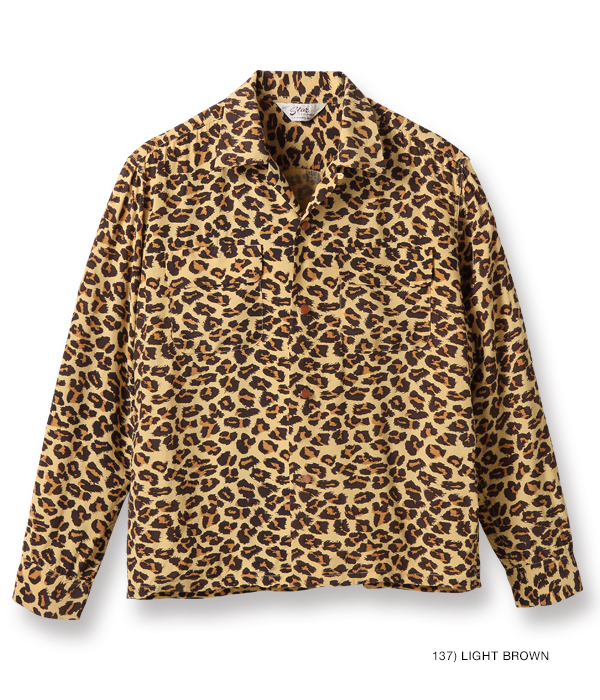 "Lot No. SH28379 / HIGH DENSITY RAYON OPEN SHIRT ""LEOPARD"""