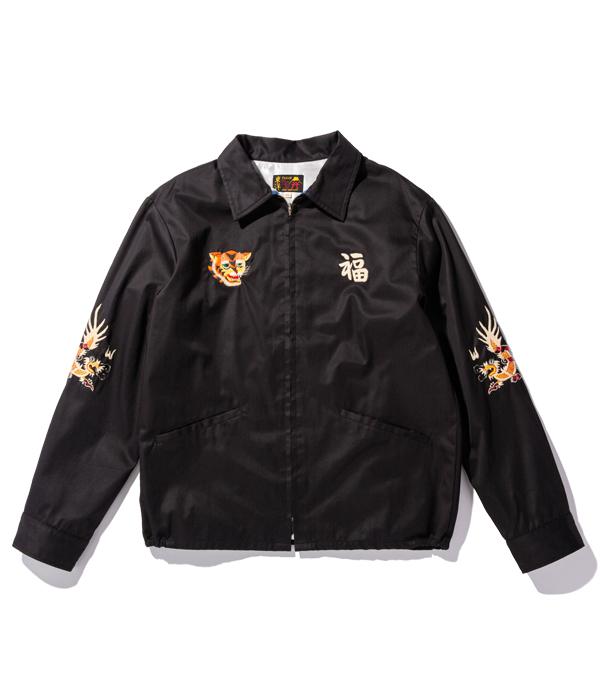 """Lot No. TT14815-119 / Mid 1960s Style Cotton Vietnam Jacket """"VIETNAM MAP"""" (BLACK)"""