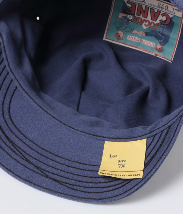 2021年4月28日入荷 / Lot No. SC02678-125 / HEAD LIGHT × FICTION ROMANCE 9.5oz. MOLESKIN WORK CAP (BLUE)