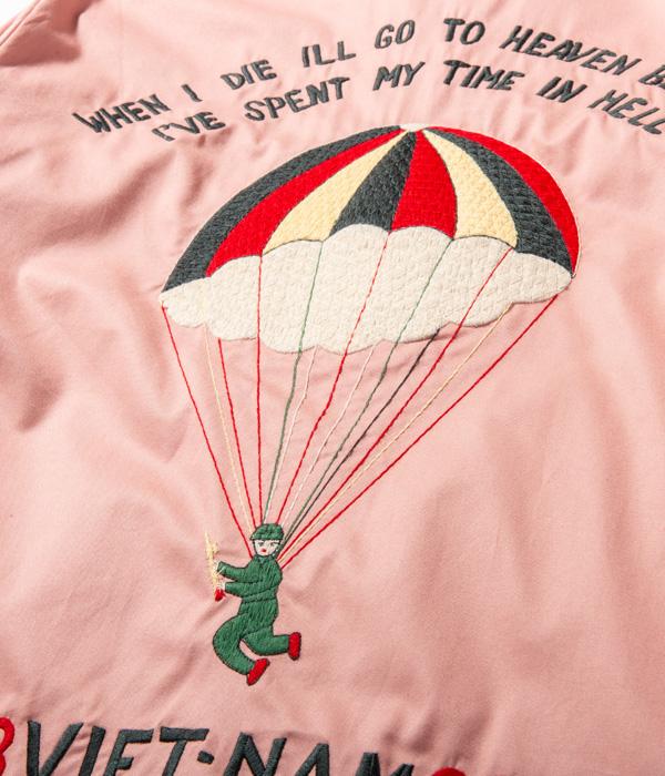 "Lot No. TT14816-162 / Late 1960s Style Cotton Vietnam Jacket ""PARACHUTE"" (PINK)"