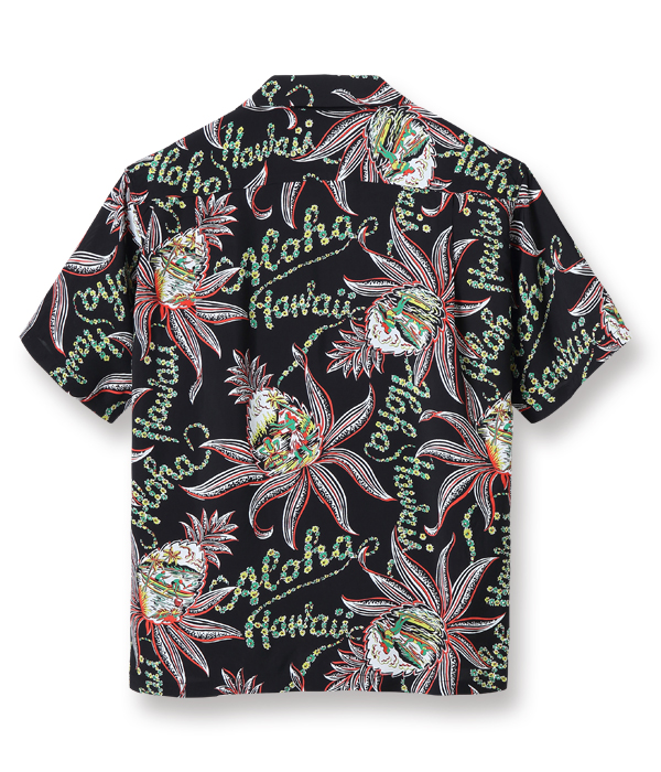 "Lot No. SS38312 / RAYON HAWAIIAN SHIRT ""PINEAPPLE PASSION"""