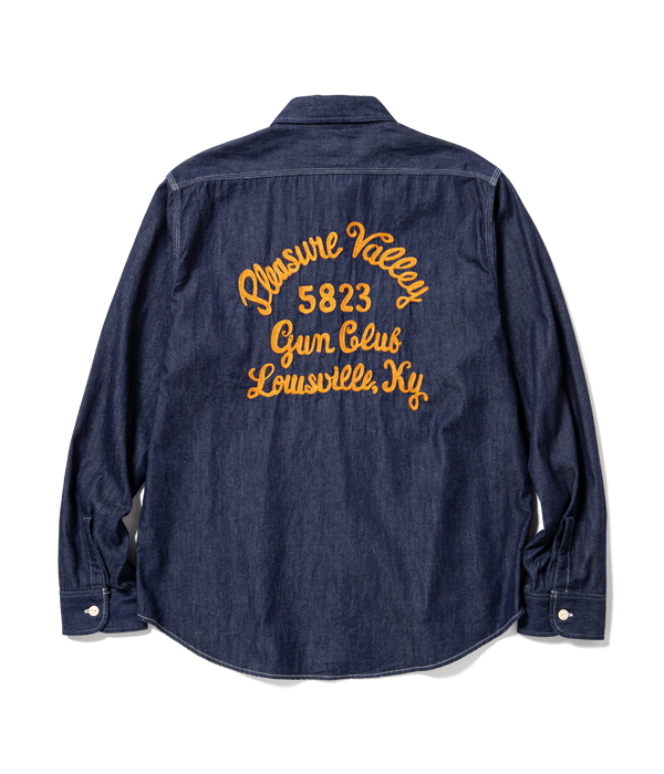 Lot No. SC28544 / 7oz. DENIM WORK SHIRT with EMBROIDERED