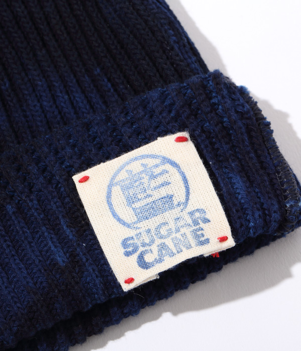 Lot No. SC02679-128 / 阿波本藍染 COTTON KNIT CAP (NAVY)