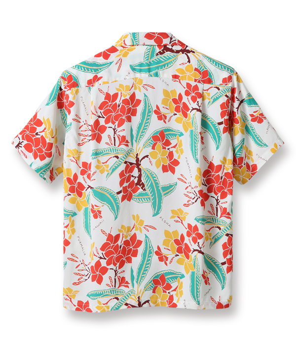 "Lot No. SS38328 / RAYON HAWAIIAN SHIRT ""SWEET PLUMERIA"""