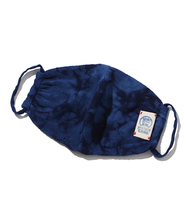 Lot No. SC02681-125 / 阿波本藍染 COTTON KNIT MASK (BLUE)