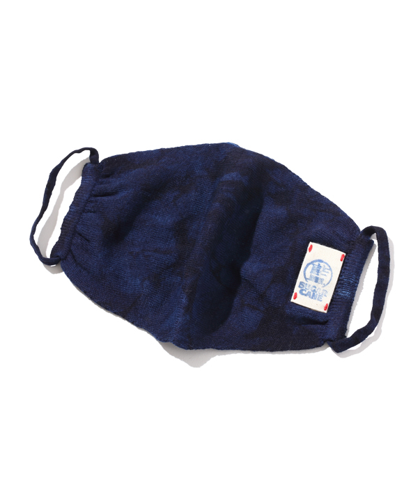 Lot No. SC02681-128 / 阿波本藍染 COTTON KNIT MASK (NAVY)