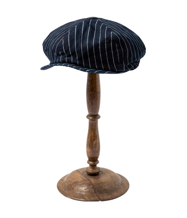 Lot No. SC02070 / 9oz. WABASH STRIPE APPLEJACK CAP