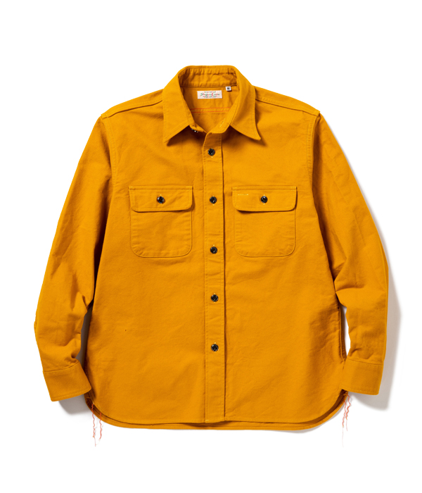Lot No. SC28515 / FICTION ROMANCE HEAVY TWILL WORK SHIRT with MARBLE BUTTON