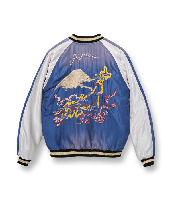"Lot No. TT14896-119 / Early 1950s Style Acetate Souvenir Jacket ""EAGLE"" × ""JAPAN MAP"" (AGING MODEL)"