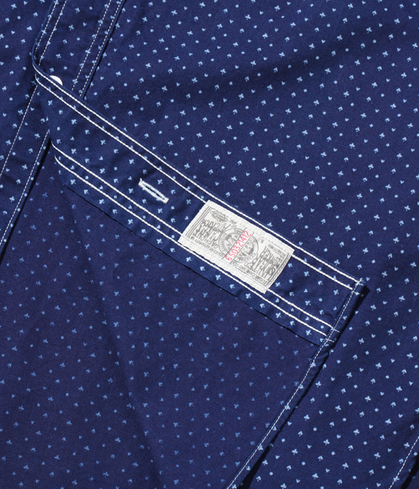 "2021年4月7日入荷 / Lot No. SC38702 / FICTION ROMANCE 4.5oz. INDIGO ""CASINO STRIPE"" WORK SHIRT"