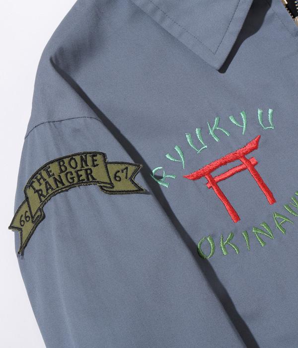 "Lot No. TT14897-125 / Mid 1960s Style Cotton Okinawa Jumper ""RYUKYU MAP"" (BLUE)"