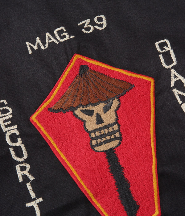 "Lot No. TT14898-119 / Late 1960s Style Cotton Vietnam Jacket ""SKULL"" (BLACK)"