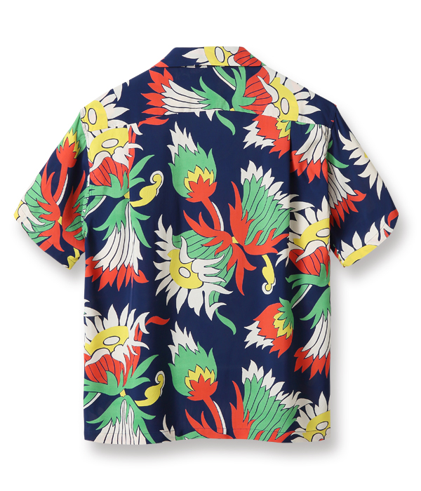 "Lot No. SS38324 / RAYON HAWAIIAN SHIRT ""ISLAND KING PROTEA"""