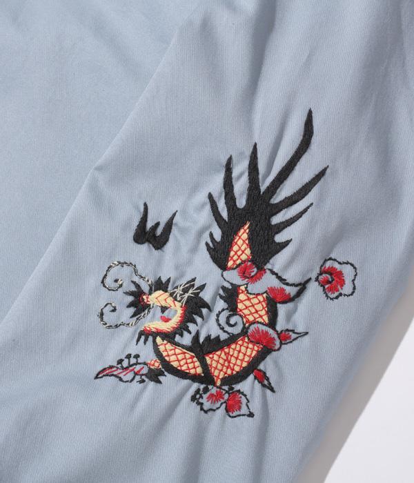 "Lot No. TT14898-124 / Late 1960s Style Cotton Vietnam Jacket ""SKULL"" (LIGHT BLUE)"