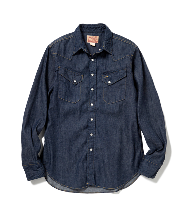 Lot No. SC28190 / BLUE DENIM WESTERN SHIRT