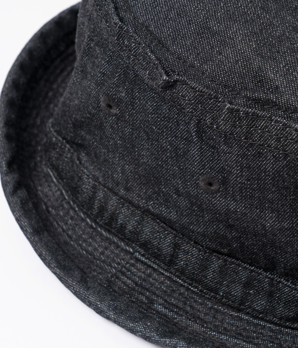 Lot No. SC02466-119 / 10oz. DENIM PORKPIE HAT (BLACK)
