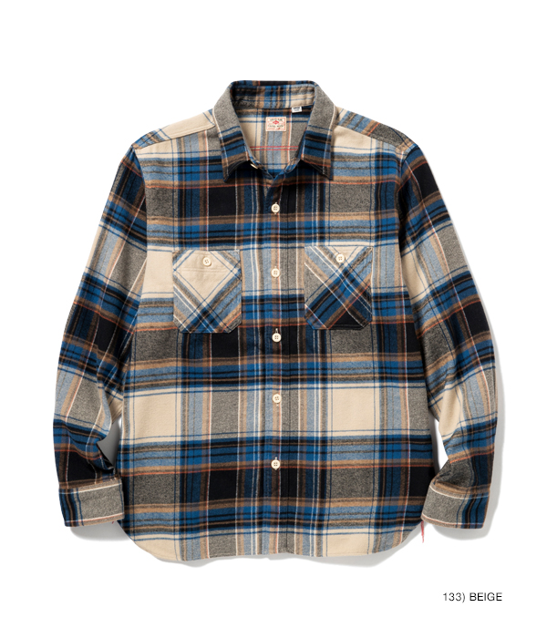 Lot No. SC28505 / LIGHT FLANNEL CHECK WORK SHIRT