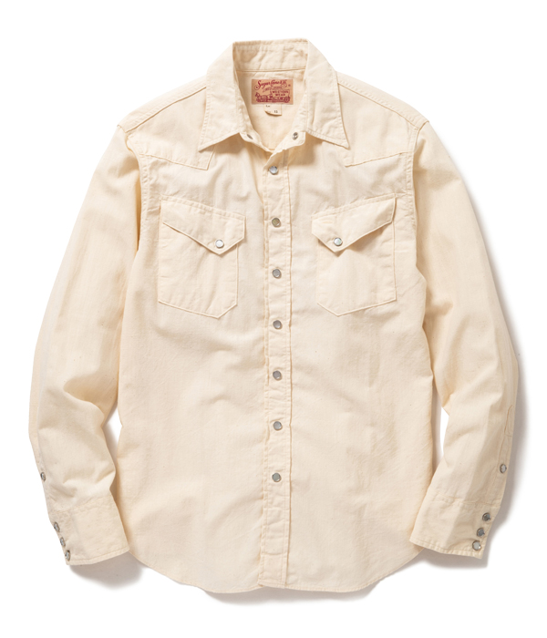 Lot No. SC28191-105 / CHAMBRAY WESTERN SHIRT (OFF WHITE)