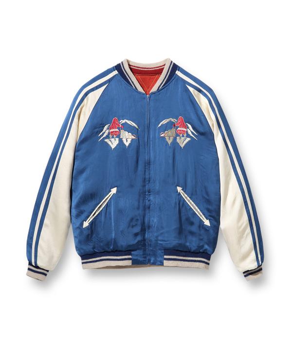 "Lot No. TT14974-125 / Late 1950s Style Acetate × Quilt Souvenir Jacket ""KOSHO & CO."" Special Edition ""ALASKA MAP"" × ""ALASKAN EAGLE"" (Reversible Side)"