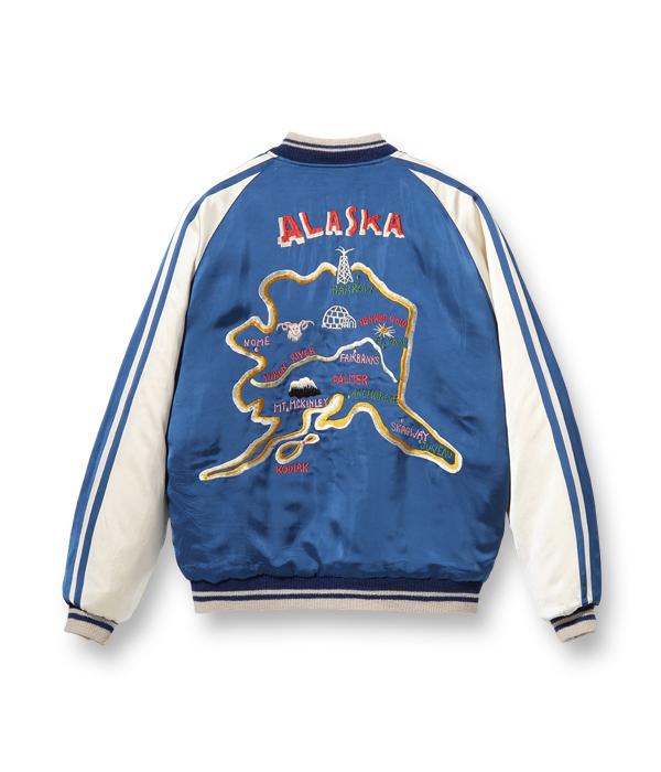 """2021年9月17日入荷 / Lot No. TT14974-125 / Late 1950s Style Acetate × Quilt Souvenir Jacket """"KOSHO & CO."""" Special Edition """"ALASKA MAP"""" × """"ALASKAN EAGLE"""""""