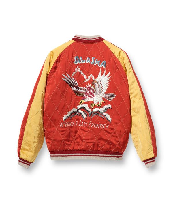 """2021年9月17日入荷 / Lot No. TT14974-125 / Late 1950s Style Acetate × Quilt Souvenir Jacket """"KOSHO & CO."""" Special Edition """"ALASKA MAP"""" × """"ALASKAN EAGLE"""" (Reversible Side)"""