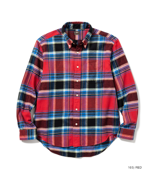 Lot No. SC28510 / LIGHT FLANNEL CHECK BUTTON DOWN SHIRT