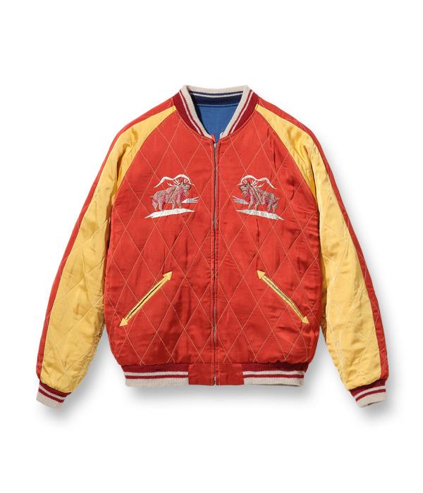 "Lot No. TT14974-125 / Late 1950s Style Acetate × Quilt Souvenir Jacket ""KOSHO & CO."" Special Edition ""ALASKA MAP"" × ""ALASKAN EAGLE"""