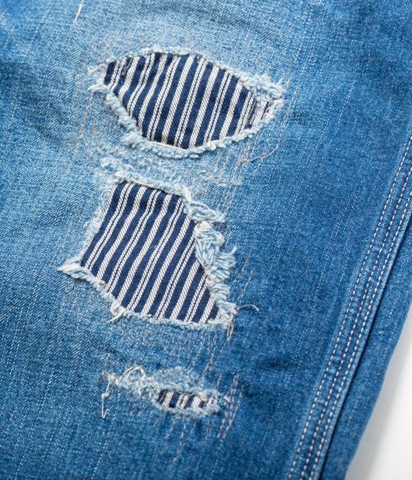 Lot No. SC41822R / 11oz. BLUE DENIM WORK PANTS AGED MODEL