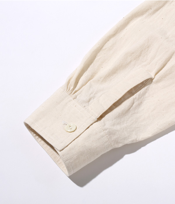 "Lot No. SS28523 / SAILOR MOKU PRODUCTS WHITE CHAMBRAY WORK SHIRT ""HILO RAILROAD COMPANY"""