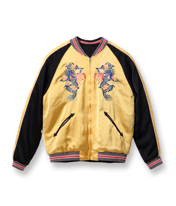 "Lot No. TT14851-155 / Early 1950s Style Acetate Souvenir Jacket ""KOSHO & CO."" Special Edition ""EAGLE"" × ""DRAGON"""