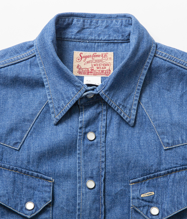 Lot No. SC28190H / BLUE DENIM WESTERN SHIRT AGED MODEL