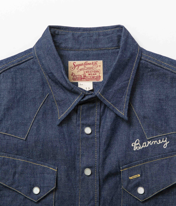Lot No. SC28373 / BLUE DENIM WESTERN SHIRT with EMBROIDERED
