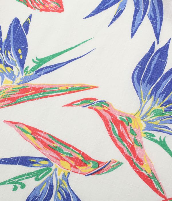 "Lot No. SS38687 / COTTON LINEN SLUBYARN OPEN SHIRTS ""BIRD OF PARADISE"""