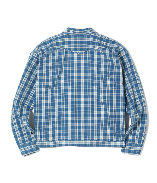"Lot No. US14590 / UNION SUPPLY ""BARBARA KAWAKAMI MODEL"" PALAKA CHECK BLOUSE"