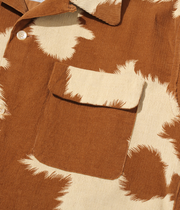 "Lot No. SE28747 / Early 1950s Style Corduroy Sports Shirt ""PONY"""