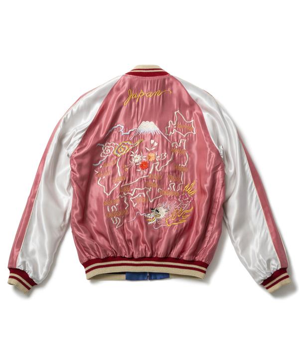 "Lot No. TT14571-125 / Early 1950s Style Acetate Souvenir Jacket ""EAGLE"" × ""JAPAN MAP"""