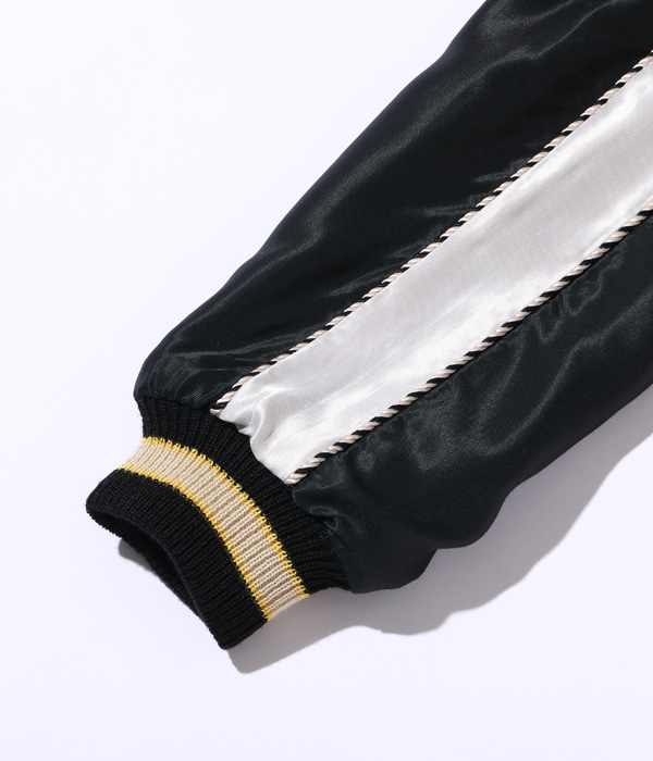 "Lot No. TT14571-190 / Mid 1950s Style Acetate Souvenir Jacket ""ROARING TIGER"" × ""WHITE DRAGON"""