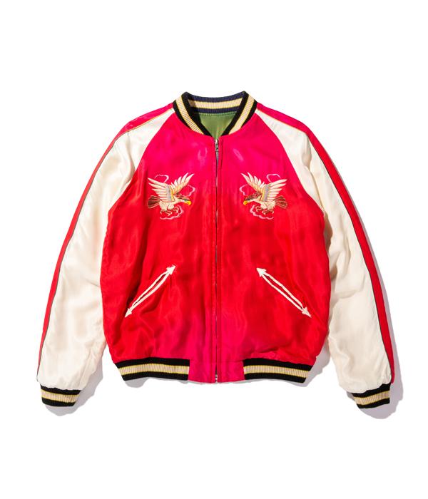 "Lot No. TT14814-145 / Mid 1950s Style Acetate Souvenir Jacket ""DRAGON"" × ""EAGLE"" (AGING MODEL) (Reversible Side)"
