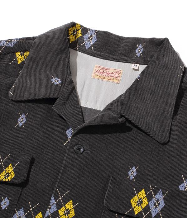"Lot No. SE28749 / Mid 1950s Style Corduroy Sports Shirt ""ARGYLE"""