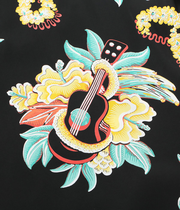 "2021年4月6日入荷 / Lot No. SS38565 / RAYON HAWAIIAN SHIRT ""MACINTOSH UKULELE"""