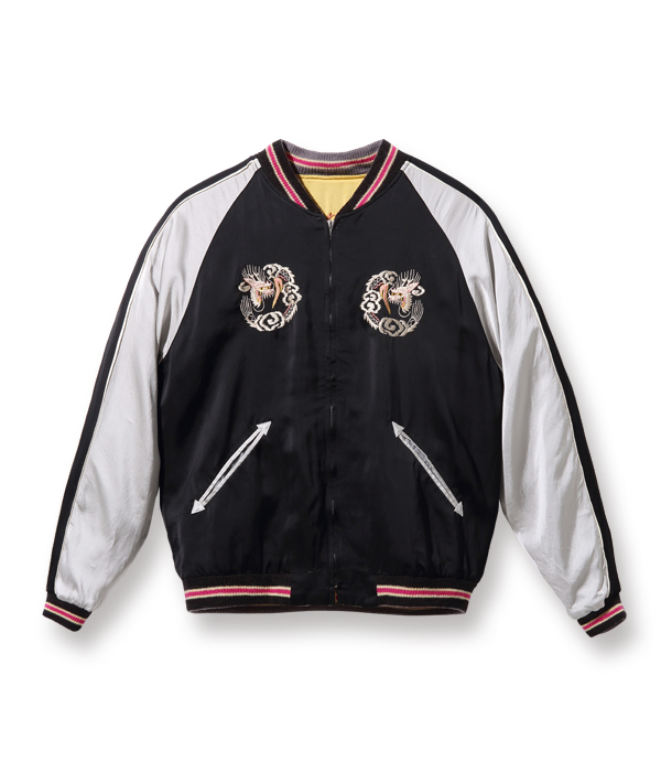 """Lot No. TT14851-155 / Early 1950s Style Acetate Souvenir Jacket """"KOSHO & CO."""" Special Edition """"EAGLE"""" × """"DRAGON"""" (Reversible Side)"""
