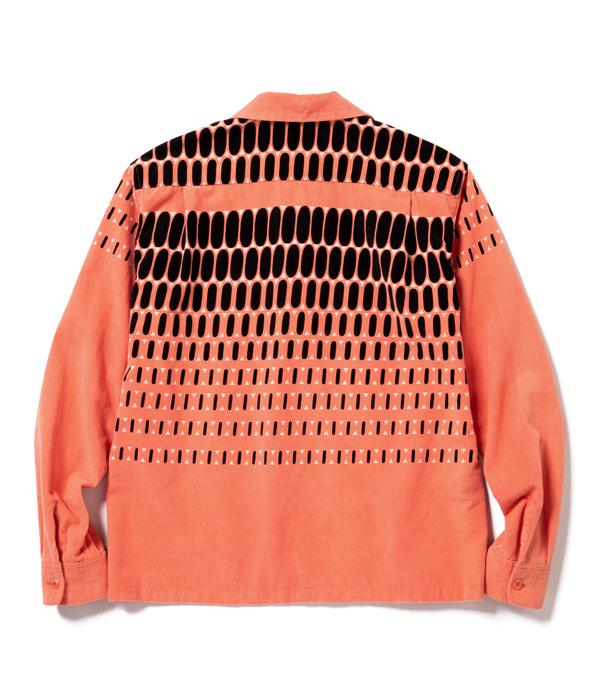 "Lot No. SE28532 / Mid 1950s Style Corduroy Sports Shirt ""ELVIS DOTS"""