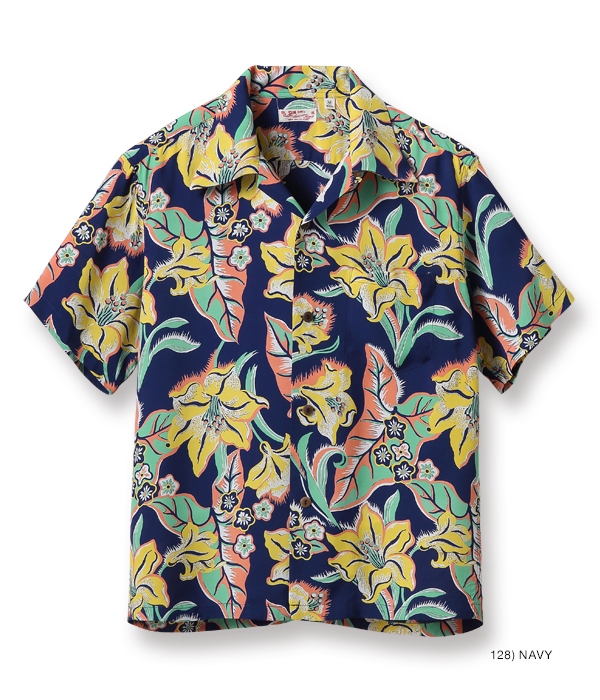 "2021年4月27日入荷 / Lot No. SS38567 / RAYON HAWAIIAN SHIRT ""LILY IN PARADISE"""