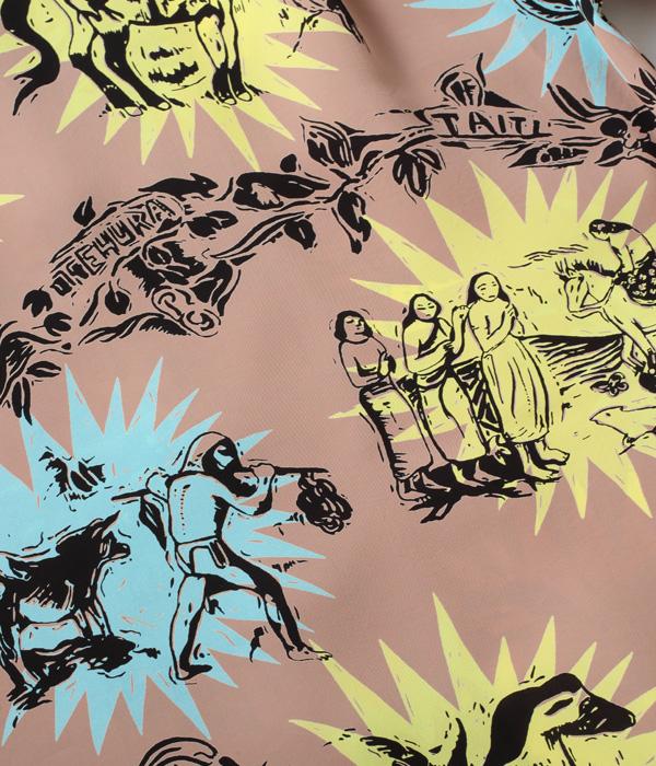 "Lot No. SS38466 / KEONI OF HAWAII ""GAUGUIN WOODCUT III(3)"" by JOHN MEIGS"