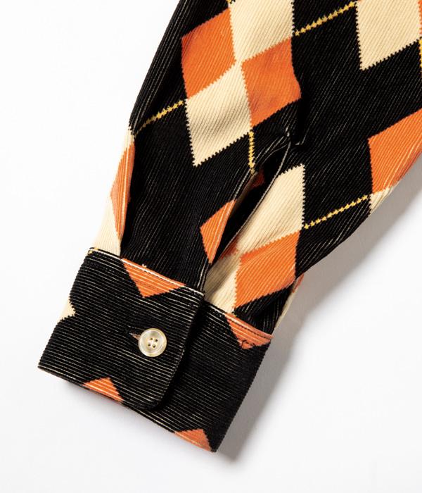 "Lot No. SE28534 / Mid 1950s Style Corduroy Sports Shirt ""ARGYLE"""