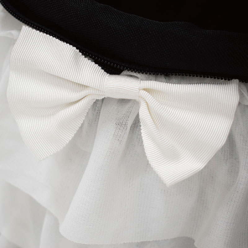 天使のカート/ミアキス×accu milia ティアードフリルホワイト/Mサイズ