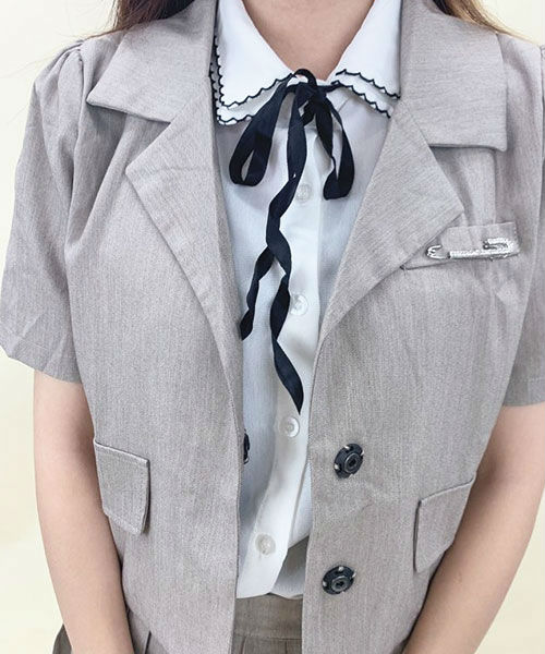 シャツジャケットプリーツスーツ