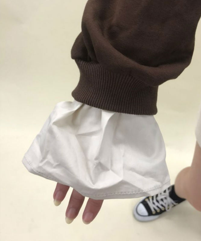 Big collar frill sleeve tops
