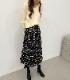 Dot tiered long skirt
