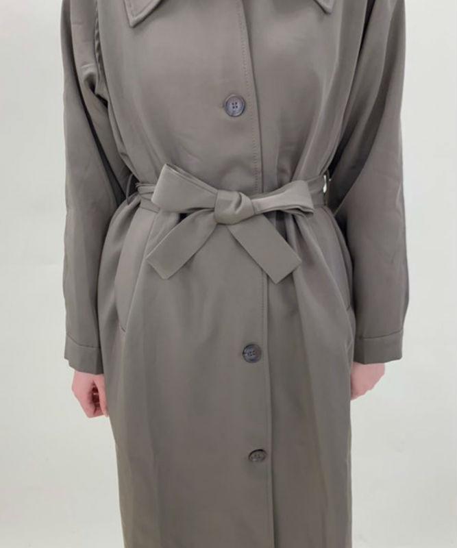 Belt set single button coat